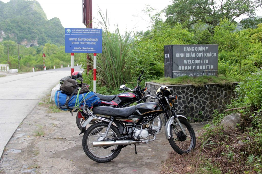 """""""Parked"""" outside the hospital in the mountain- Photo courtesy of Silvia Pineschi"""