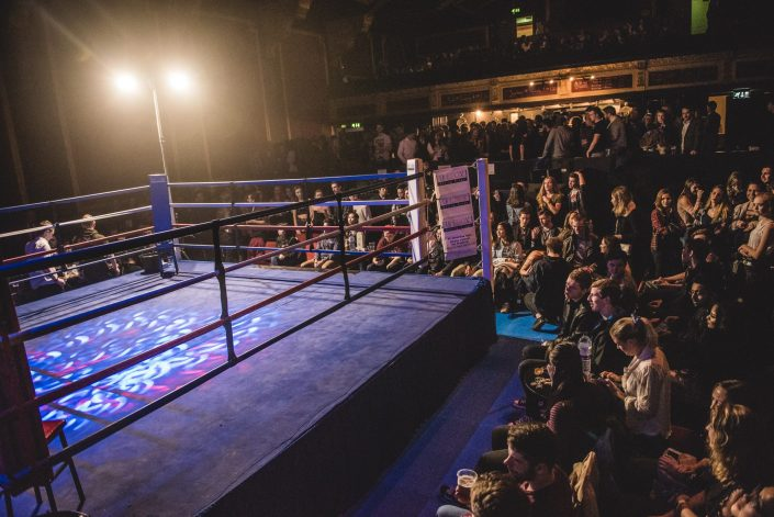 komedia crowd kickboxing match fight night bath university