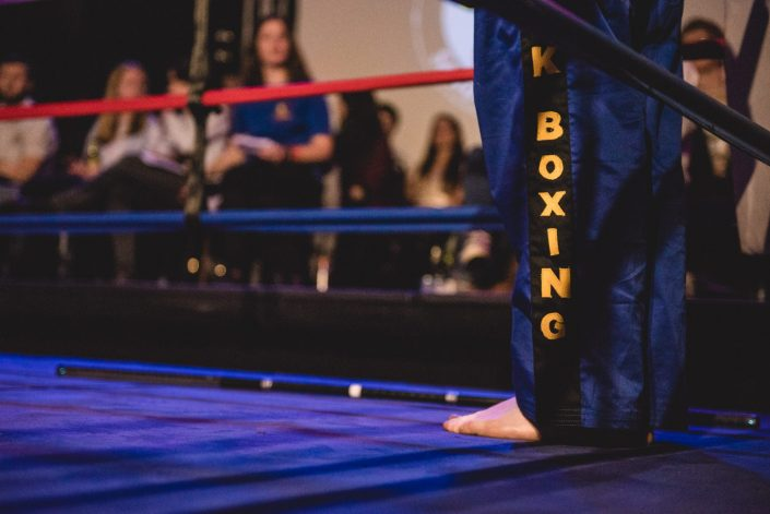 fight night kickboxing university bath ring martial arts demonstration
