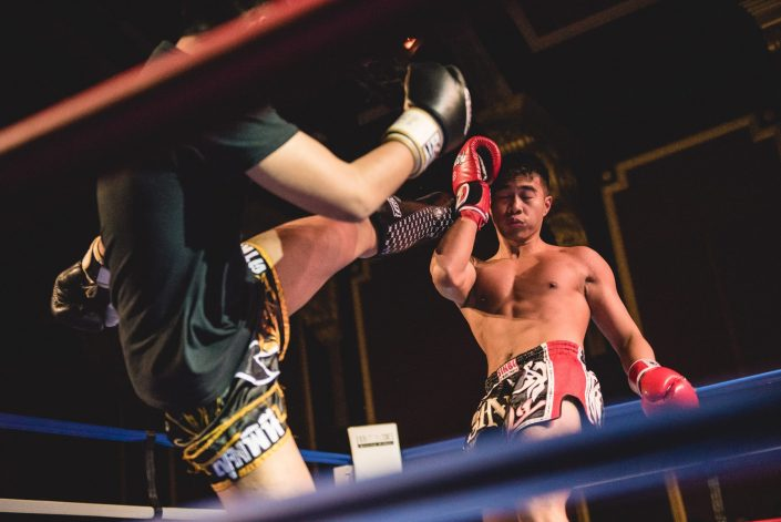 fight night kickboxing university bath ring high kick